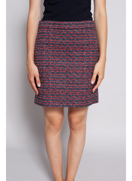 Marc by Marc Jacobs NAVY AND RED EMBROIDERY SKIRT