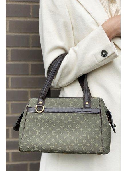 "Louis Vuitton DARK GREEN ""JOSEPHINE"" HANDBAG"