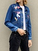 Maje  DENIM JACKET WITH COLORFUL EMBROIDERIES - NEW