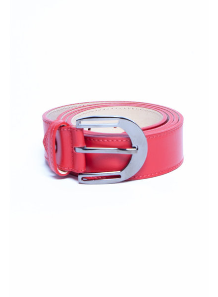 "Longchamp ""LE PLIAGE NÉO"" RED LEATHER BELT"