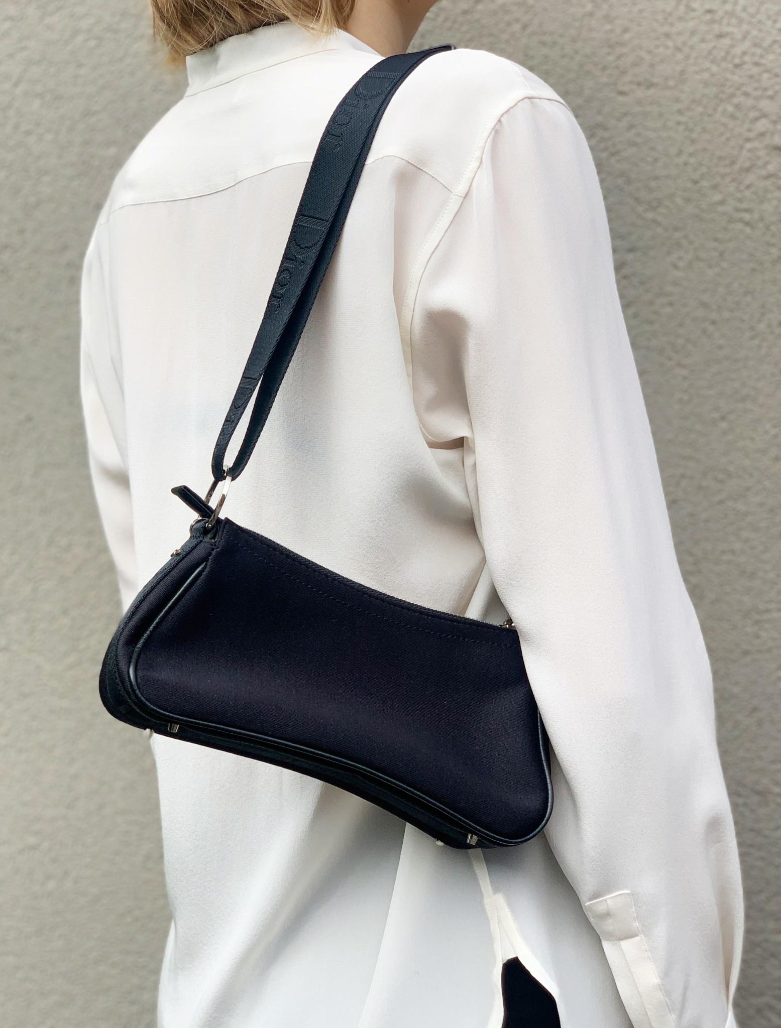Dior BLACK NYLON HANDBAG