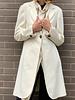 Brunello Cucinelli OFF-WHITE CASHMERE COAT WITH KNIT COLLAR