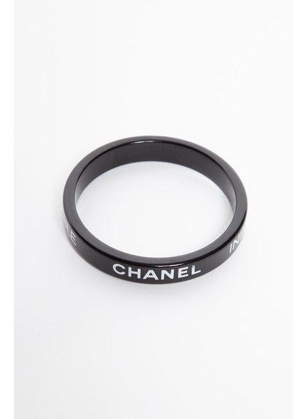 "Chanel BLACK BANGLE BRACELET ""INIMITABLE"""