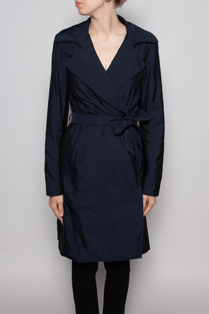The Row DARK BLUE TRENCH COAT
