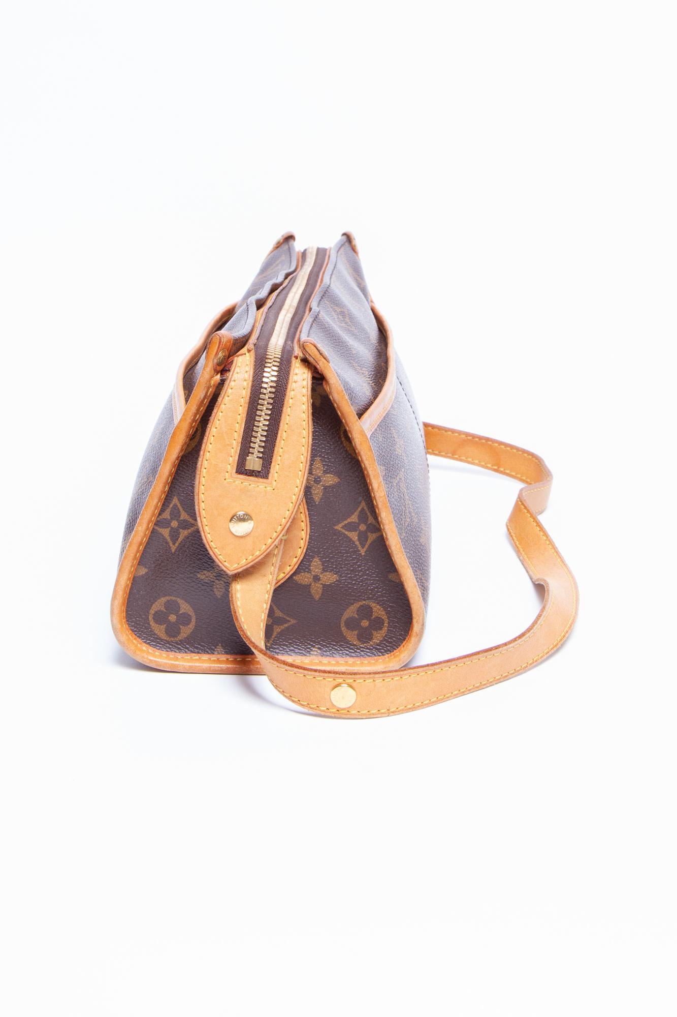 """Louis Vuitton """"POPINCOURT"""" MONOGRAM CANVAS HANDBAG"""