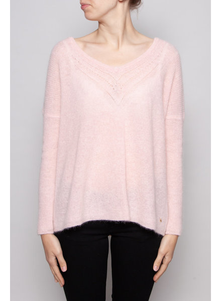 Des petits hauts PINK ALPACA AND MOHAIR SWEATER