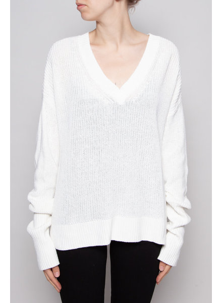Filippa K WHITE KNITTED SWEATER