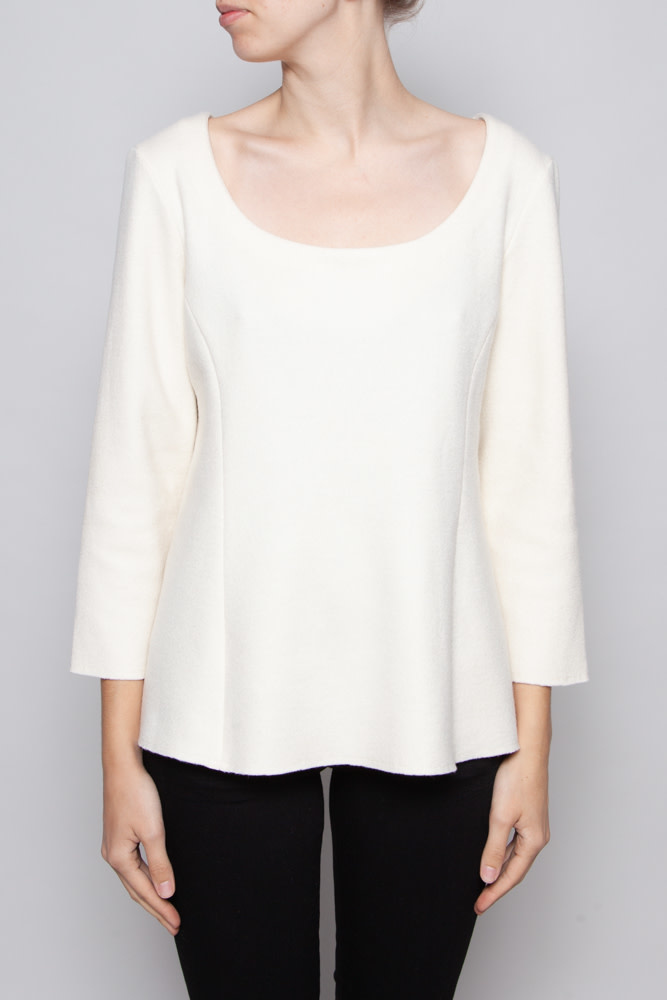 The Row IVORY WOOL TOP - NEW