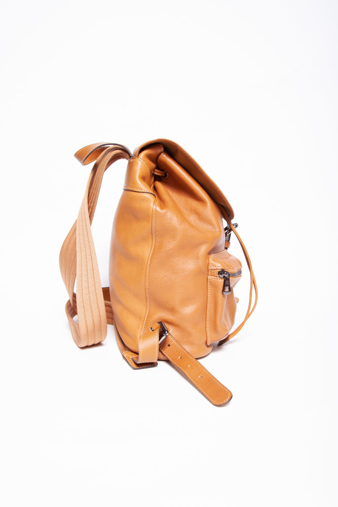 Longchamp LIGHT BROWN LEATHER BACKPACK