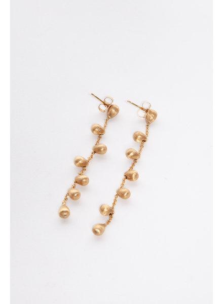 18 KT GOLD LONG EARRINGS