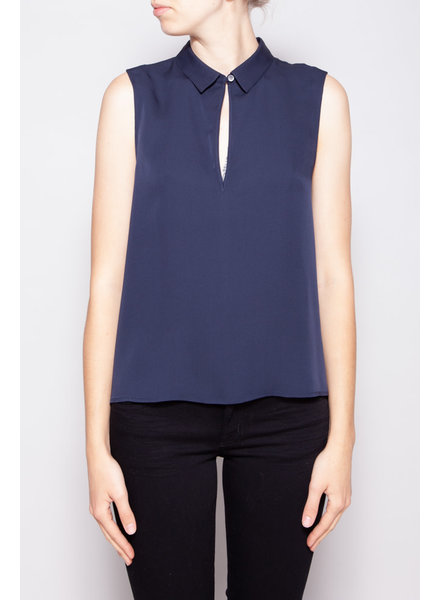 Theory DARK BLUE SILK TANK TOP - NEW WITH TAGS