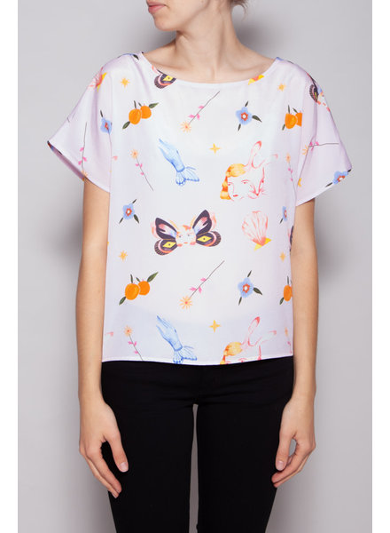 Noemiah PINK PRINTED TOP - NEW WITH TAGS