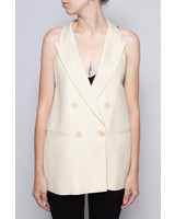 Stella McCartney VESTON JAUNE SANS MANCHES