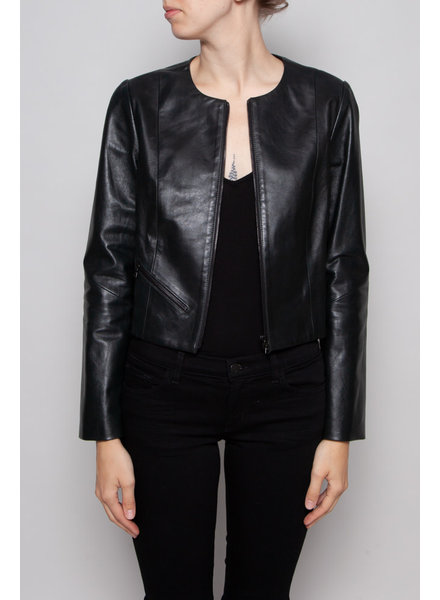 Judith & Charles DARK GREEN LEATHER JACKET - NEW WITH TAGS