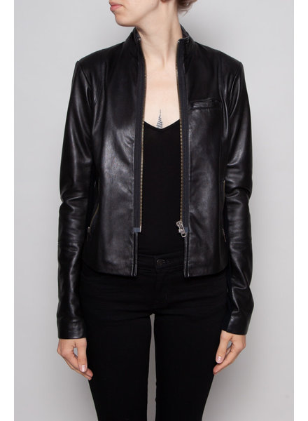 Veda BLACK LEATHER JACKET