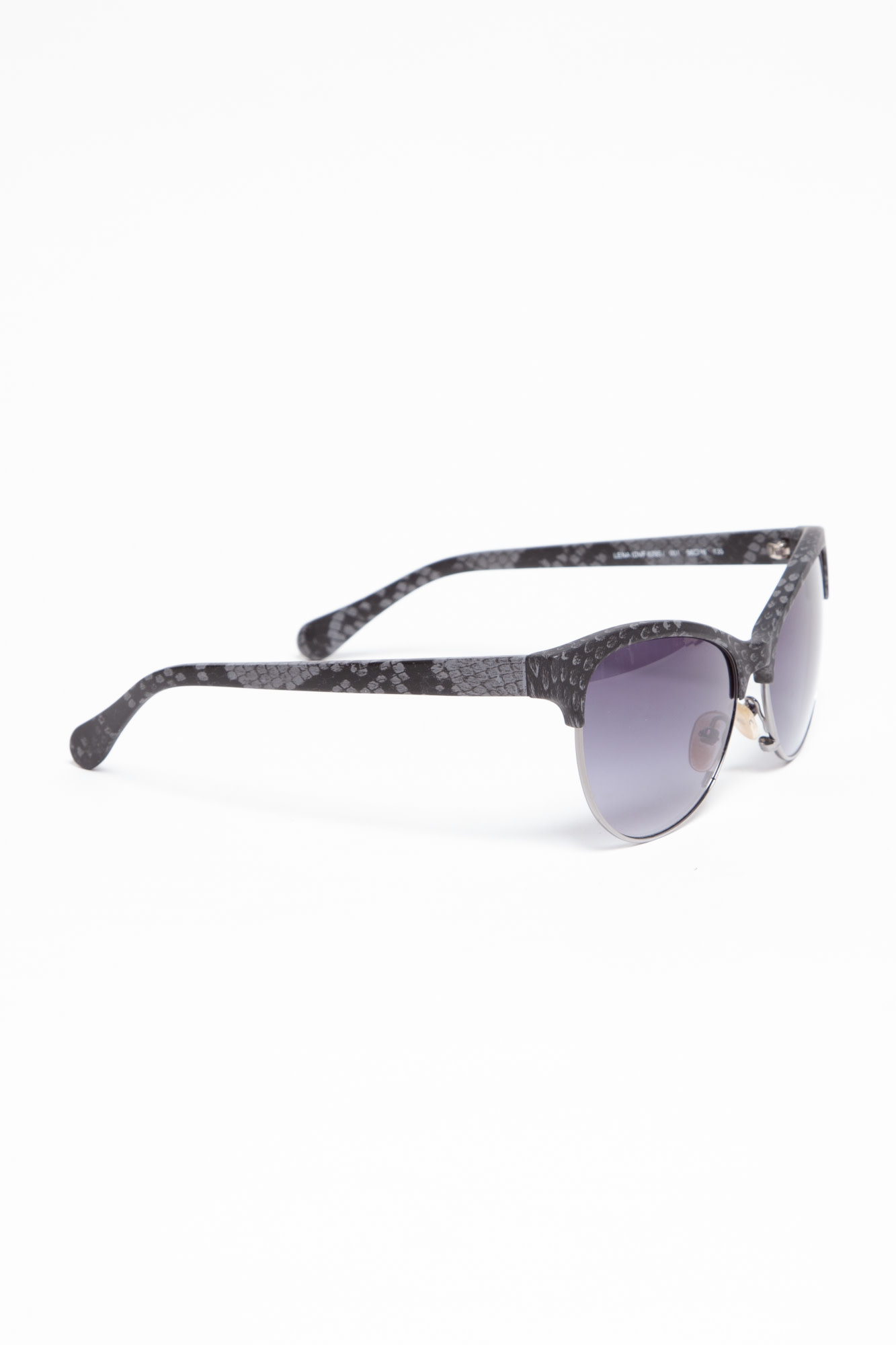 Diane von Furstenberg  DARK GRAY SCALE SUNGLASSES