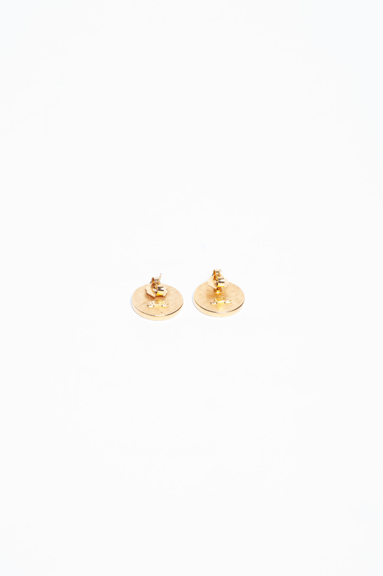 "Fendi GOLDEN ""FENDI"" VINTAGE EARRINGS"