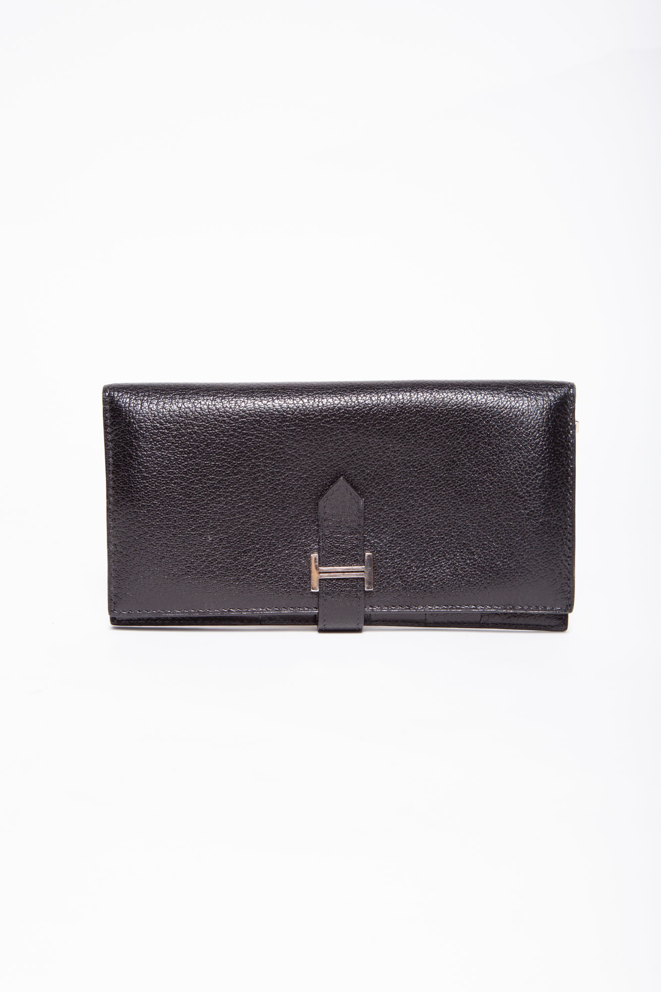 Hermès BÉARN BLACK LEATHER WALLET