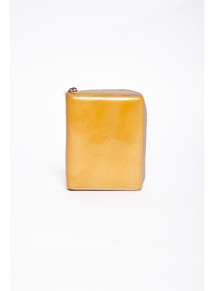 Louis Vuitton YELLOW VERNIS BROOME MONOGRAM WALLET