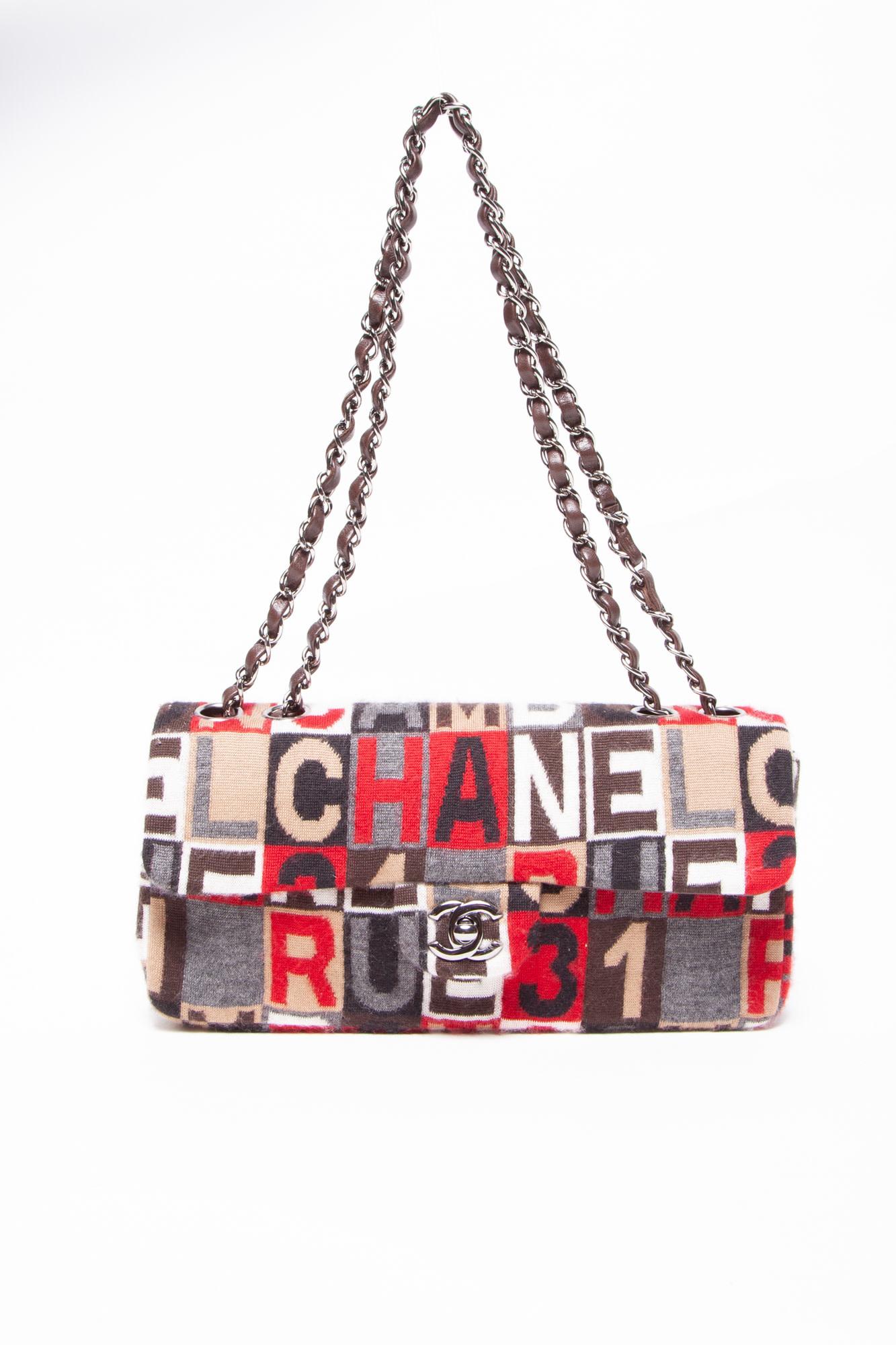 Chanel WOOL LOGO E/W FLAP BAG