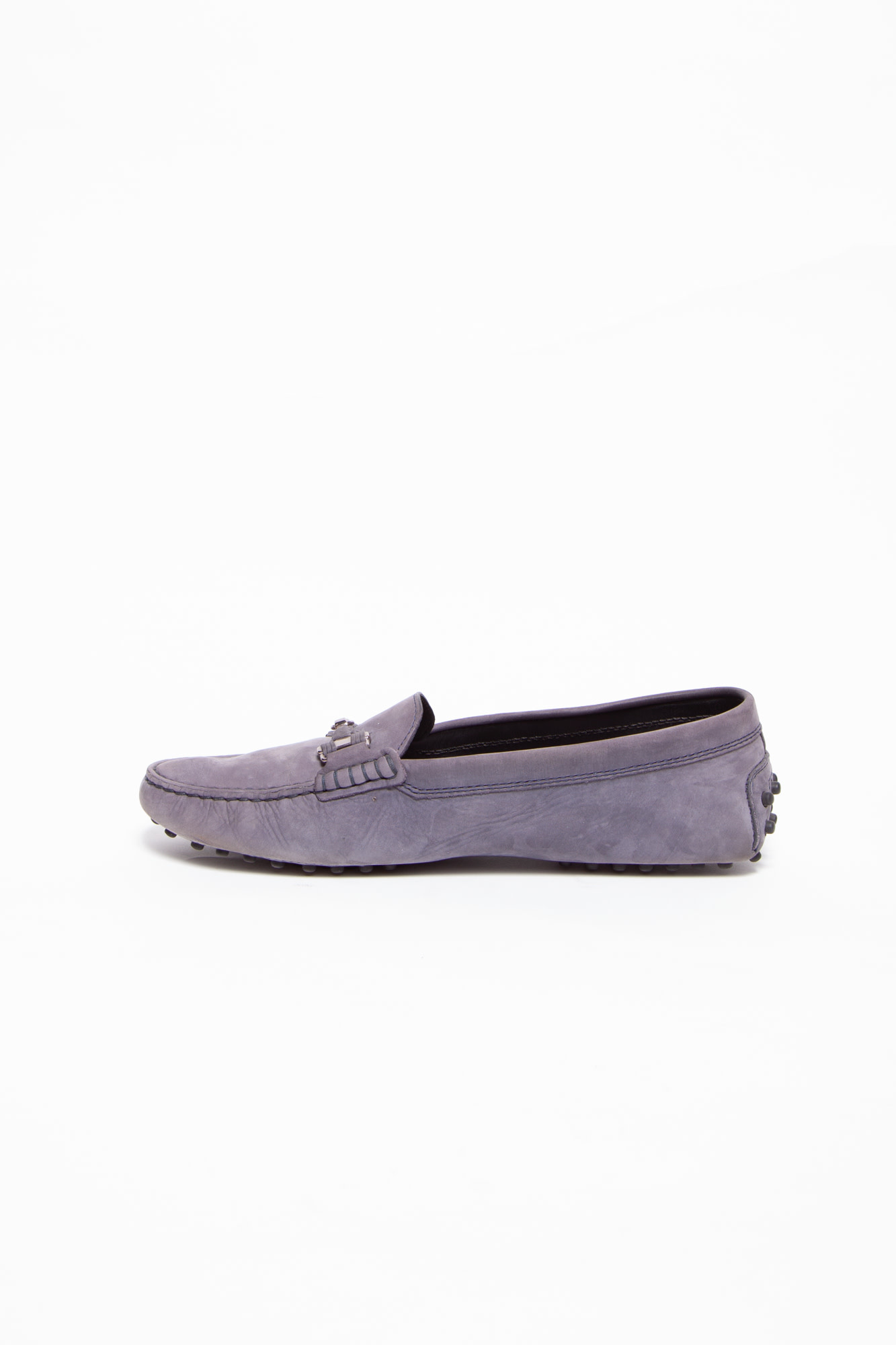 TOD'S GREY GOMMINO DRIVING SHOES