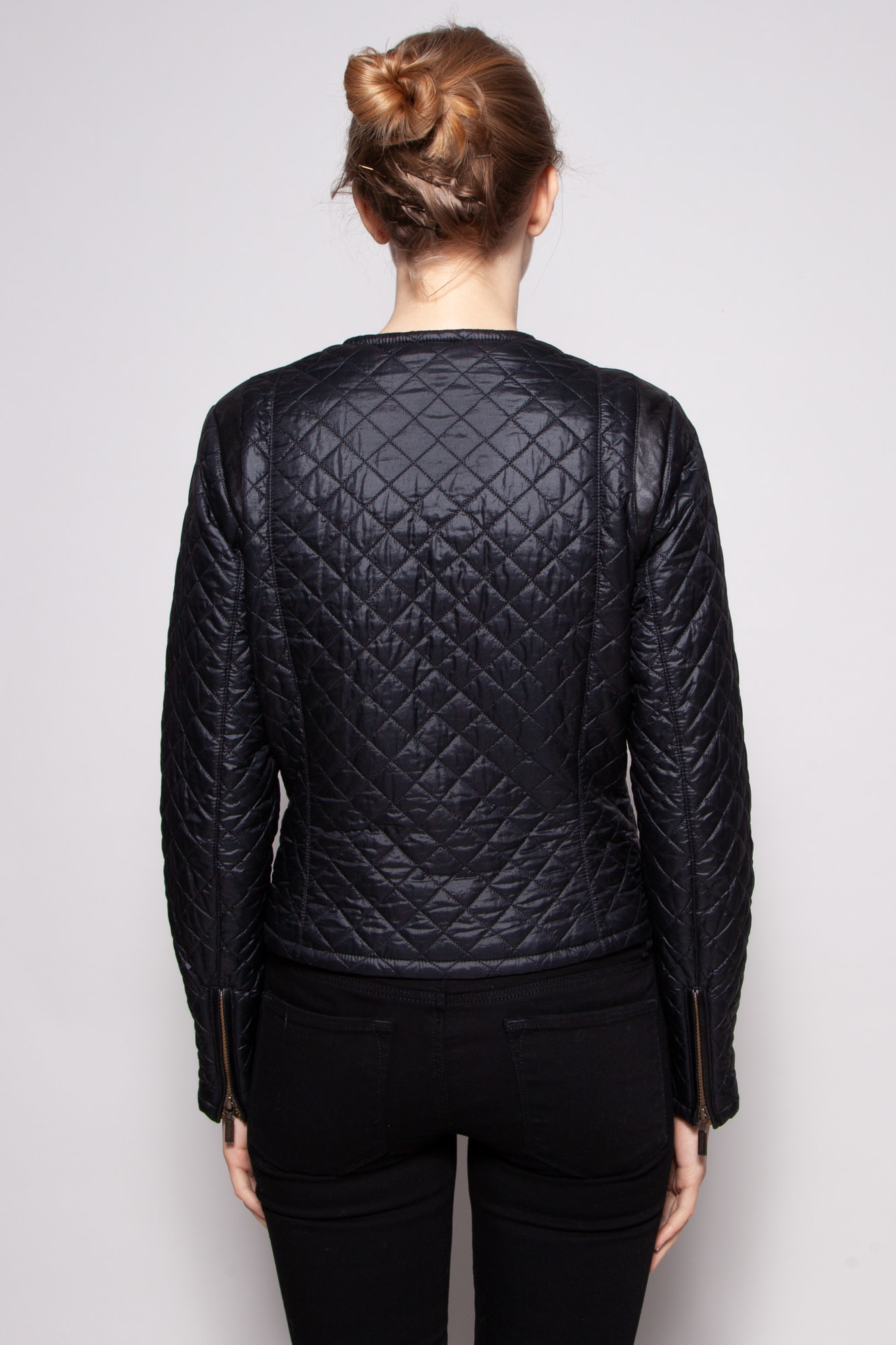 Barbour BLACK QUILTED FALL JACKET