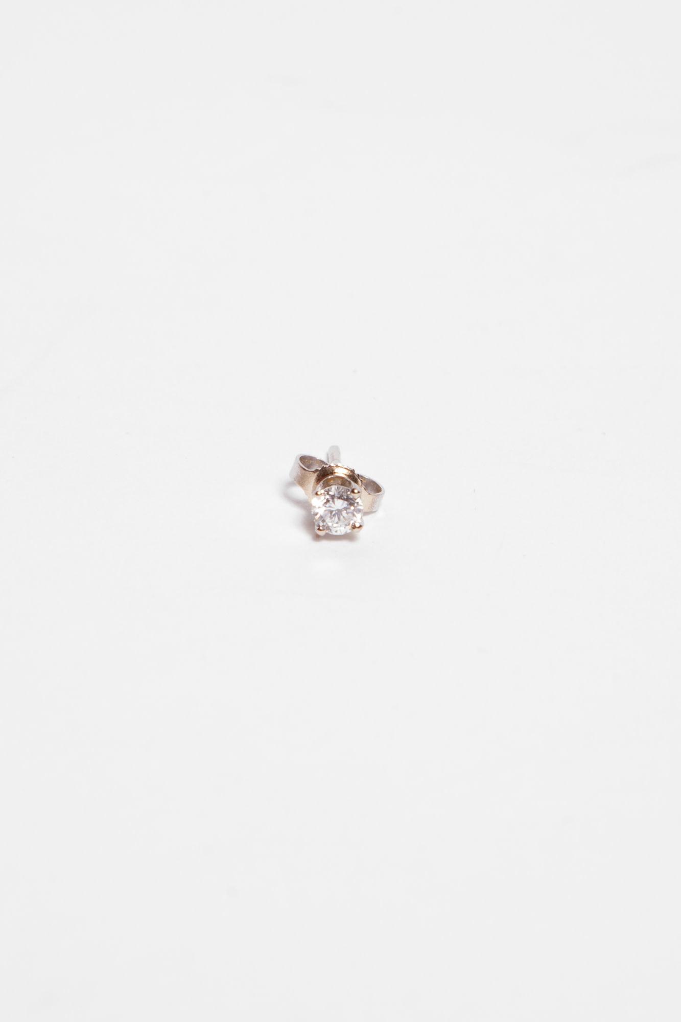 Birks EARRING IN 14 KT WHITE GOLD AND DIAMOND