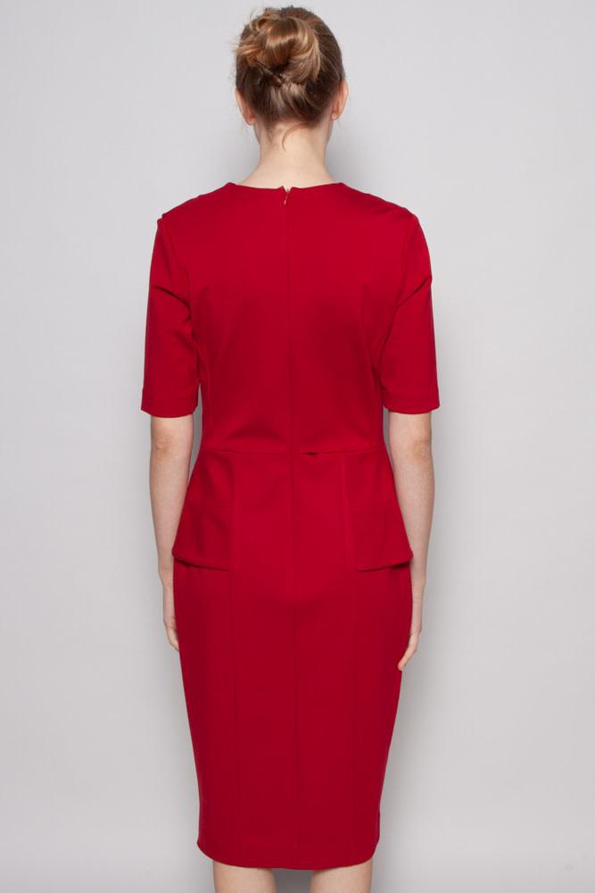Éditions de Robes RED PEPLUM DRESS