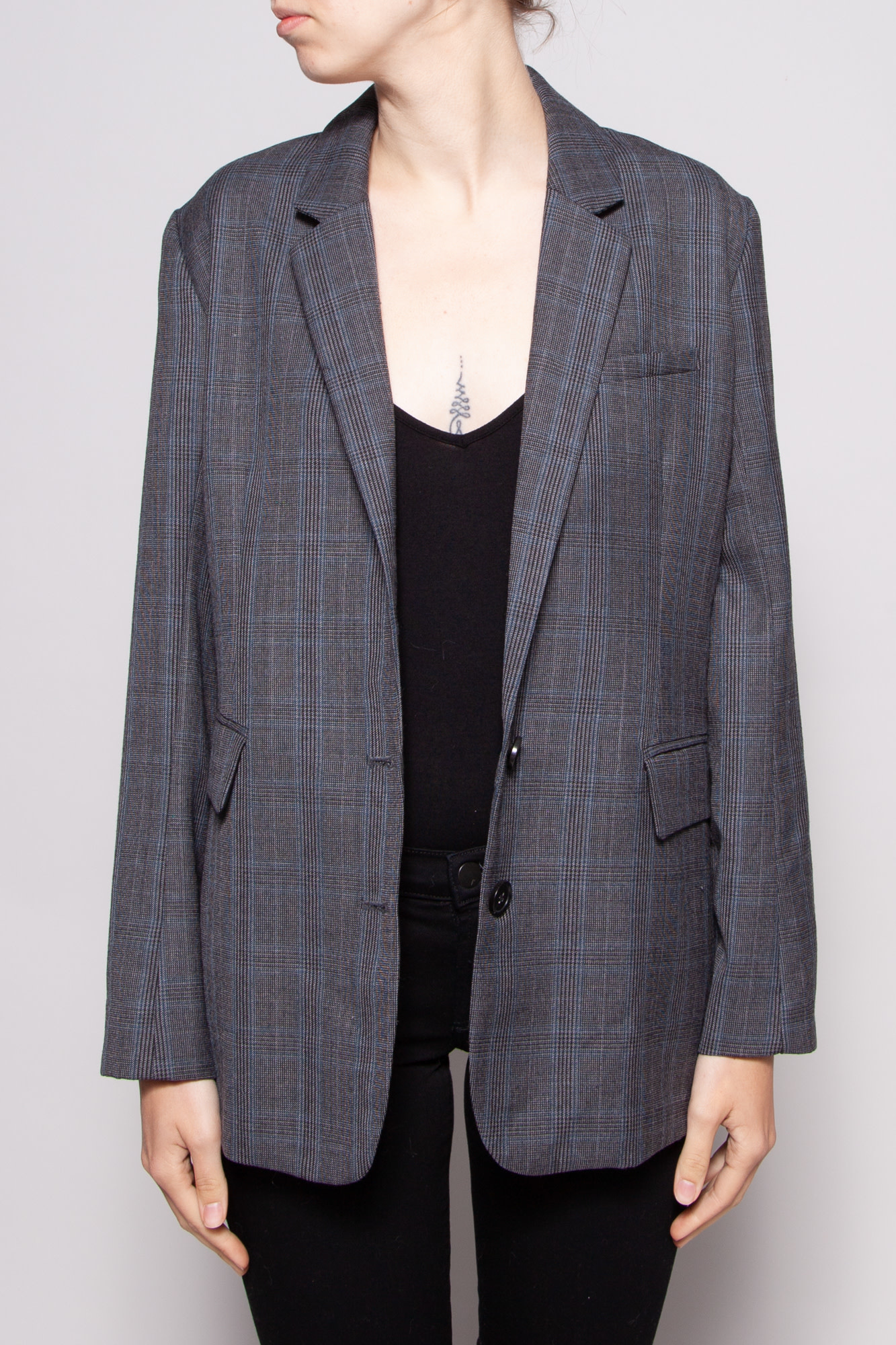 Rails NEW PRICE (WAS $110) - NAVY CHARCOAL CHECK BLAZER - NEW WITH TAG