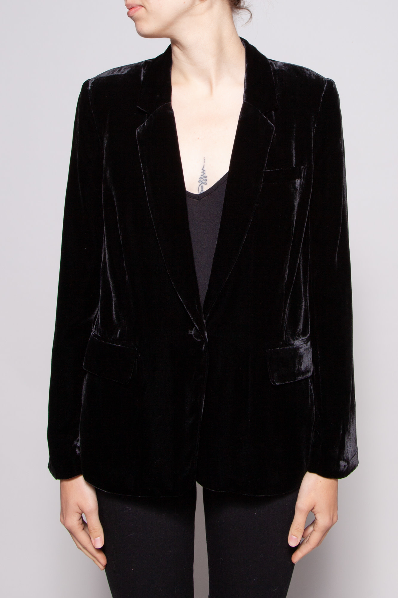 Joie BLACK VELVET BLAZER - NEW WITH TAGS
