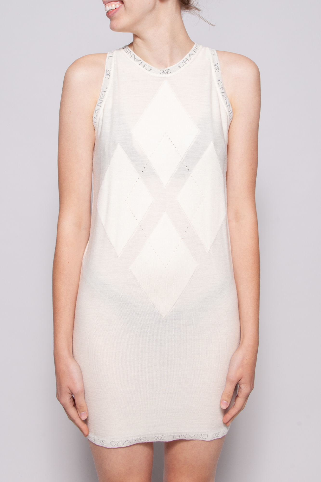 Chanel IVORY KNITTED DRESS
