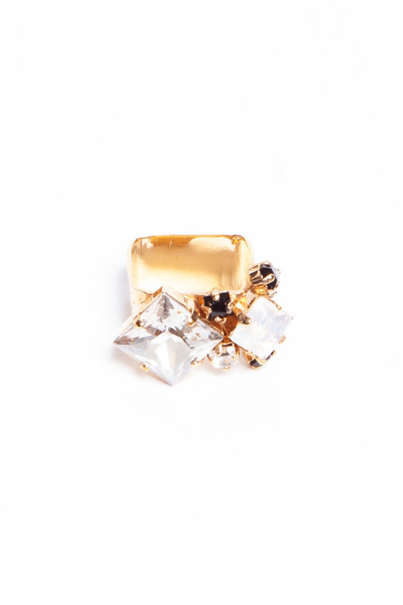 Sabrina Dehoff SQUARE RING WITH INCHED JEWELERY - NEW