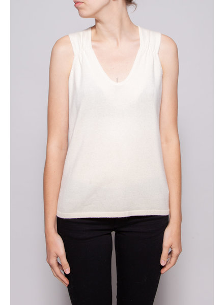 Brunello Cucinelli OFF-WHITE CASHMERE TOP