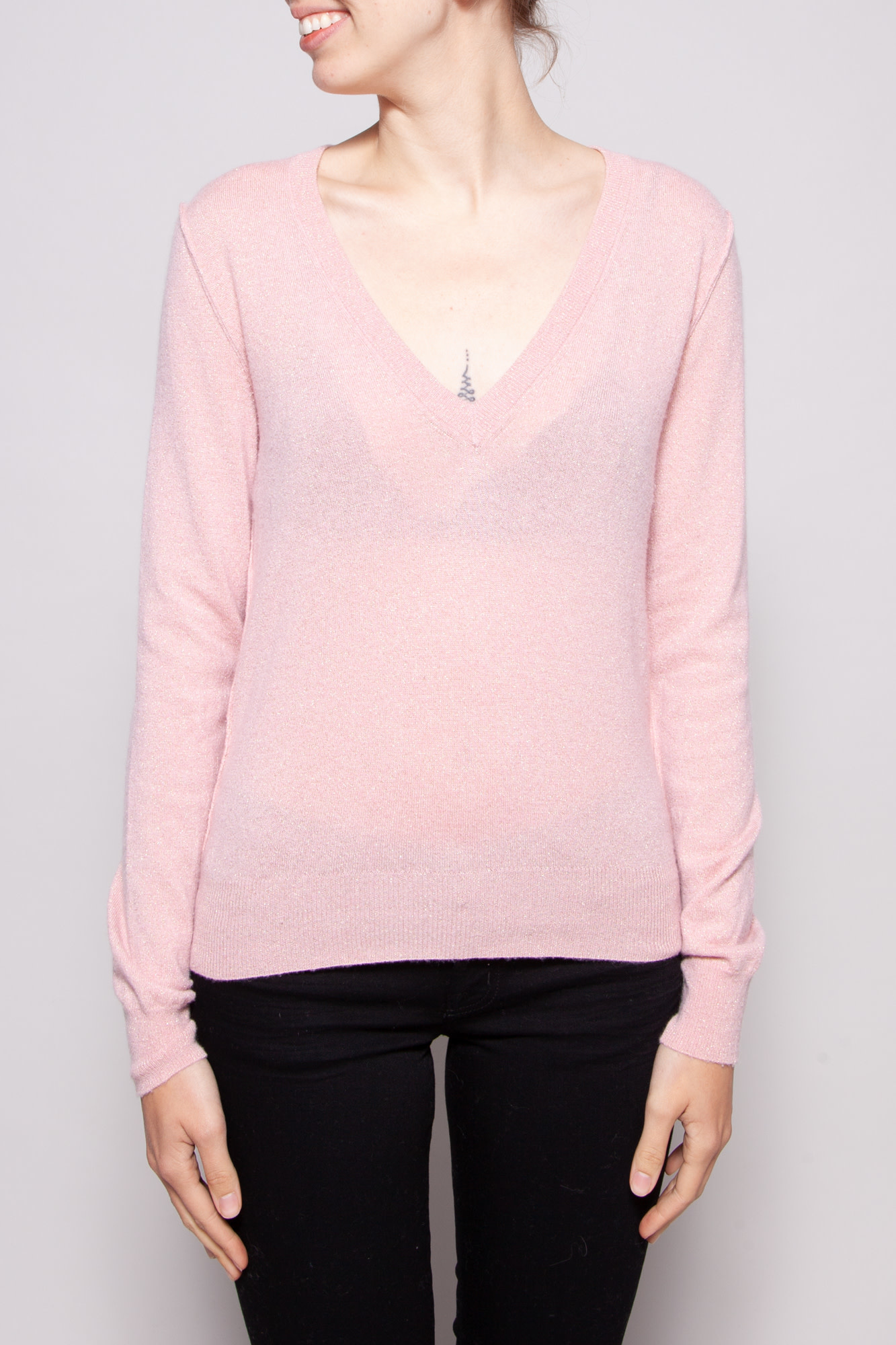 Dolce & Gabbana NEW PRICE (WAS $280) - PINK SHINY SWEATER
