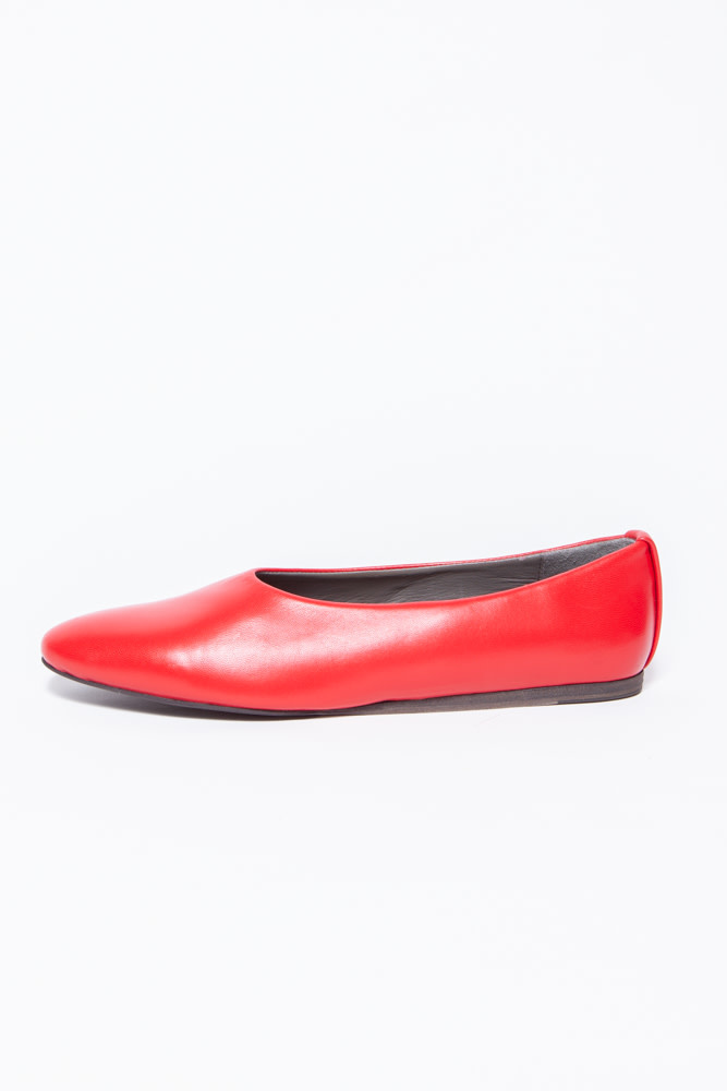 Fausto Santini RED LEATHER SLIPPER SHOES