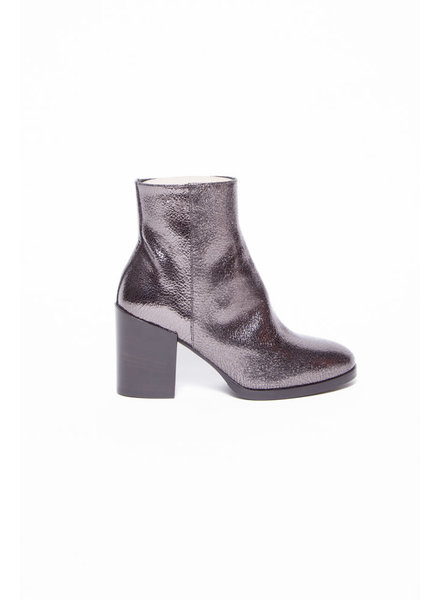 La canadienne NEW PRICE (WAS $220) - SHINY GRAY BOOTS WITH HEEL - NEW