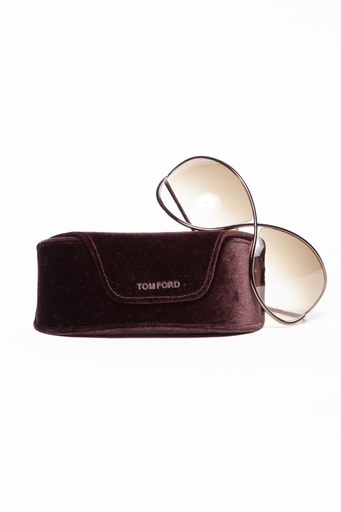 Tom Ford BRONZE CROSS-FRONT SUNGLASSES