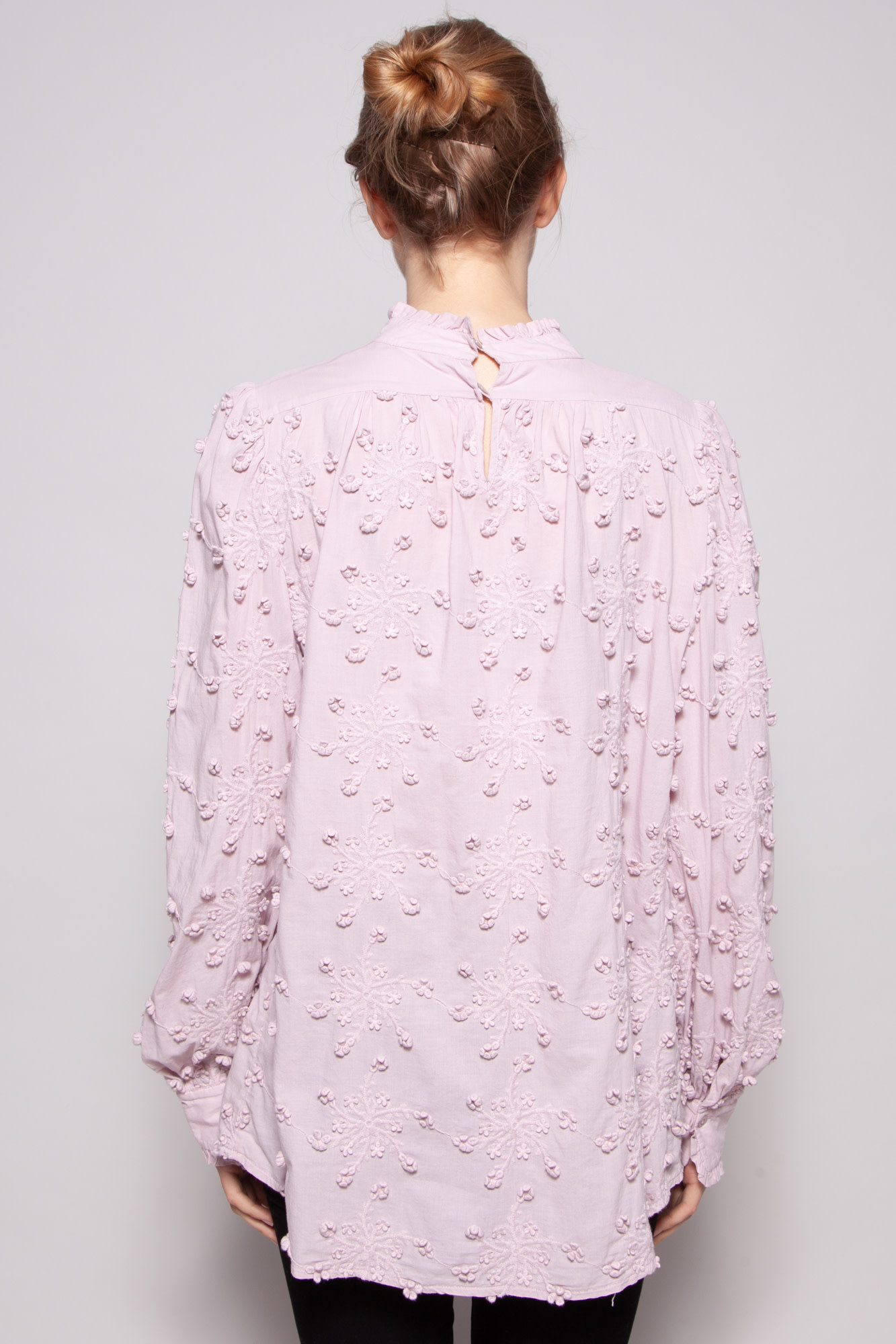 See by Chloe PINK EMBROIDERED BLOUSE