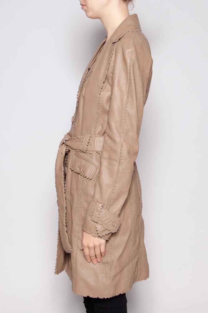 Christian Dior BEIGE LAMB LEATHER COAT