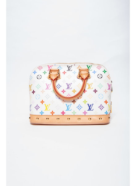 "Louis Vuitton ""ALMA PM"" OFF-WHITE AND MULTICOLORED MONOGRAM TAKASHI MURAMAKI HANDBAG"
