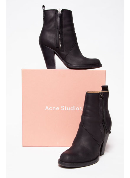 Acne Studios BLACK LEATHER BOOTS