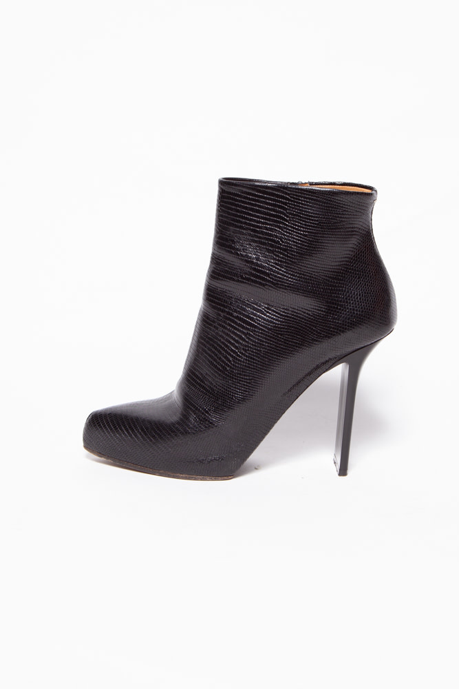 Maison Martin Margiela BLACK LEATHER HIGH HEEL BOOTS