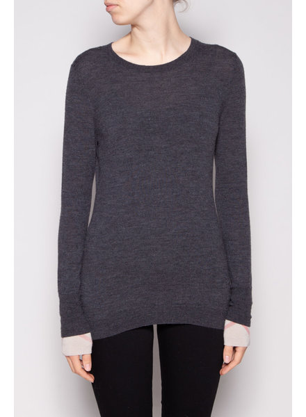 Burberry Brit GREY MERINO WOOL SWEATER
