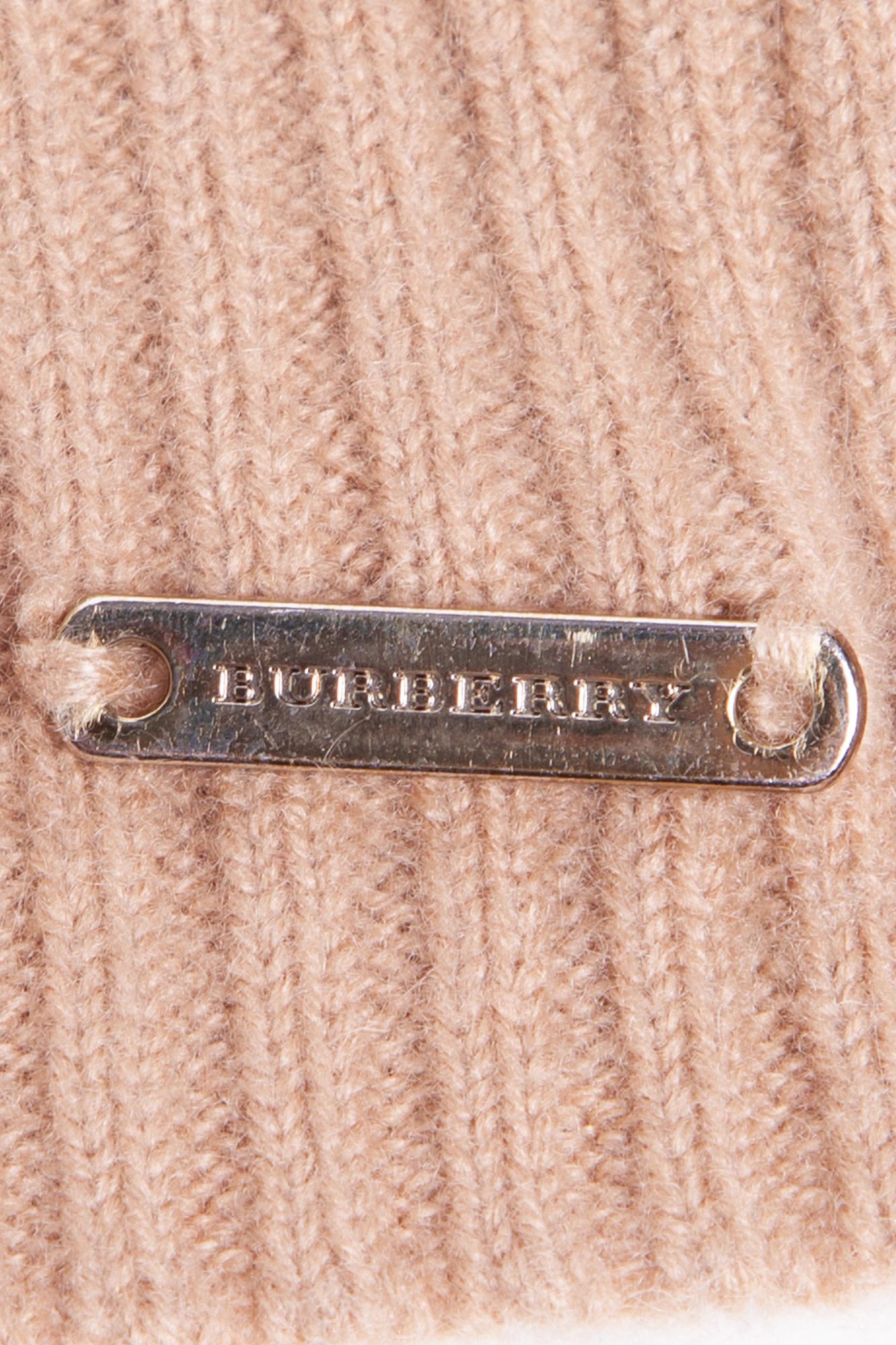 Burberry BEIGE CASHMERE BEANIE