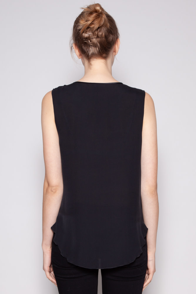 L'agence BLACK SILK SEQUIN TOP - NEW WITH TAGS