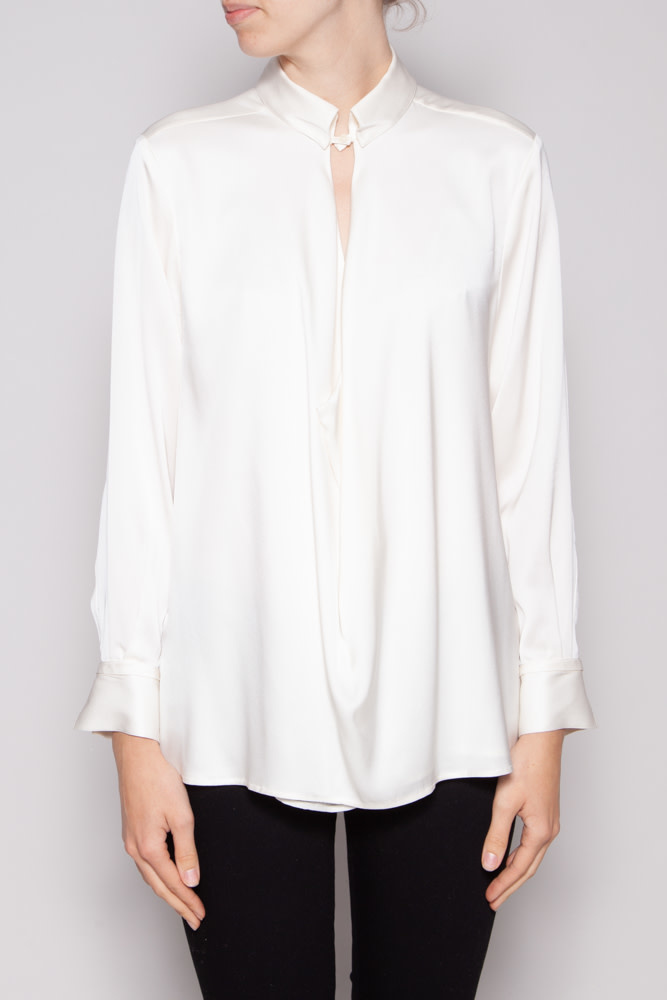 Halston Heritage OFF-WHITE BLOUSE MADE OF SILK