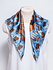 Dior BLUE AND BRONZE PRINTED SILK SCARF