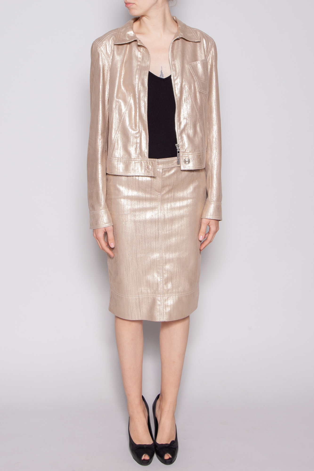 Christian Dior NEW PRICE (WAS $1195) - GOLD LEATHER JACKET