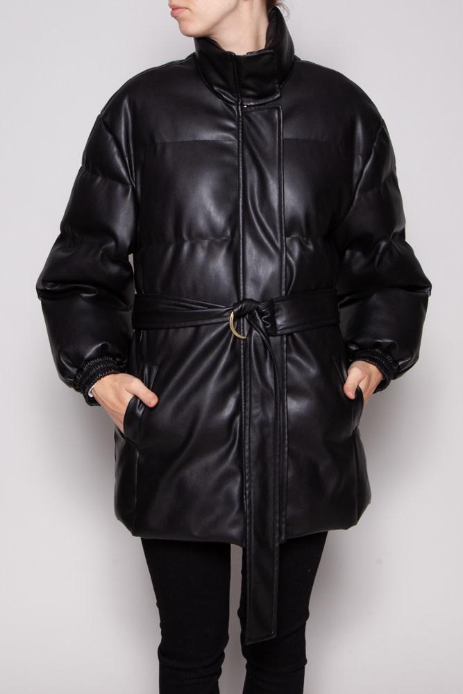 Hide BLACK PUFFER COAT - NEW