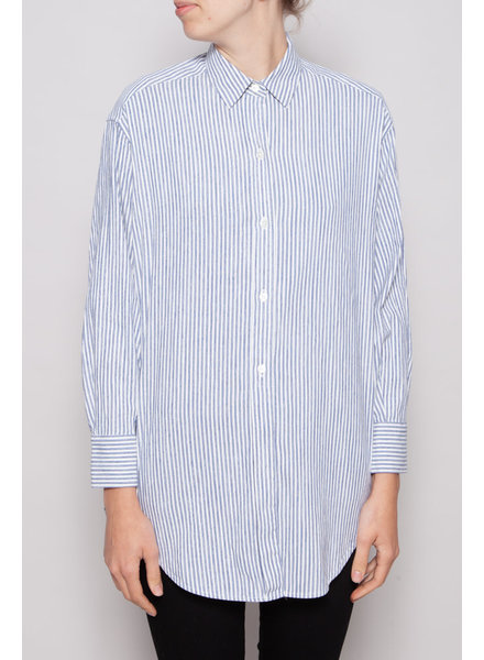 Vince OVERSIZED BLUE & WHITE STRIPED SHIRT - NEW WITH TAG